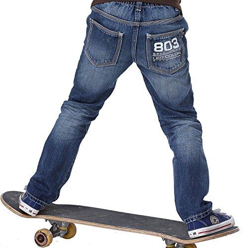 Leo&Lily BoysHusky Elastic Waist Durable Print Denim Jeans