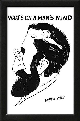 Sigmund Freud What's On a Man's Mind Art Poster Print Framed