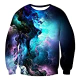 Uideazone Women Men 3d Nebula Star Cluster Pullover Sweatshirt Cool Long Sleeve Shirt