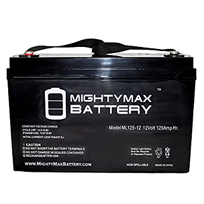 12V 125AH SLA Battery for Solar / Wind Storage Deep Cycle Batteries - Mighty Max Battery brand product