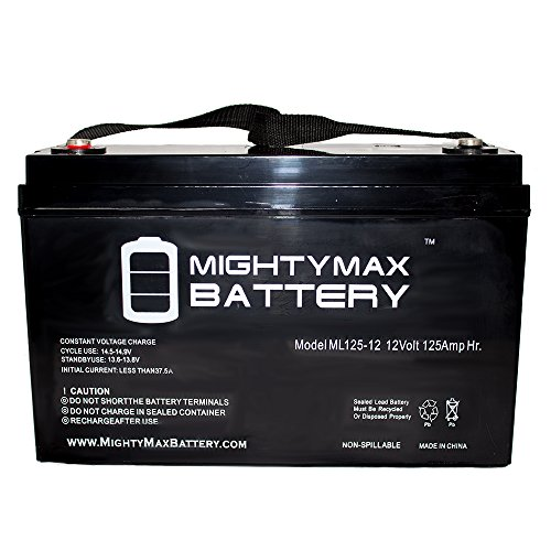 12V 125AH SLA Replacement Battery for Basement Watchdog 30HDC140S - Mighty Max Battery brand product by Mighty Max Battery