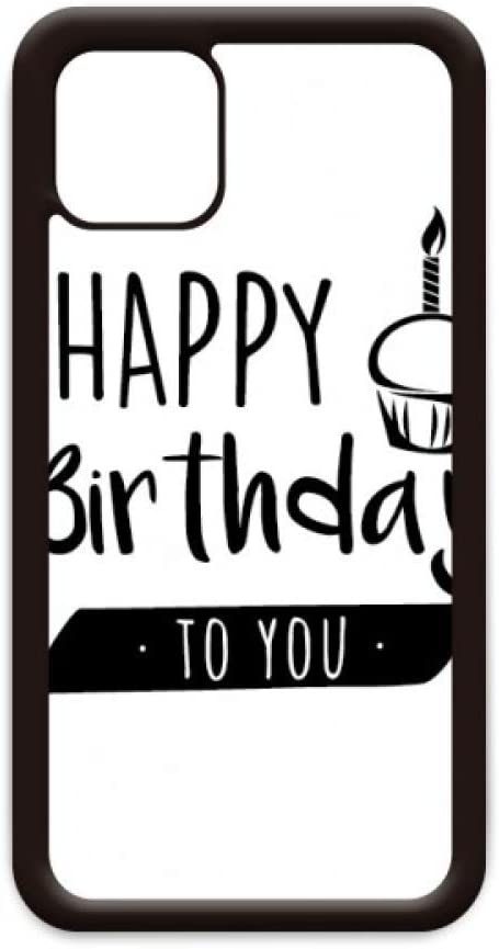 Happy Birthday Cake Quote Style for iPhone 11 Pro Max Cover for Apple Mobile Case Shell