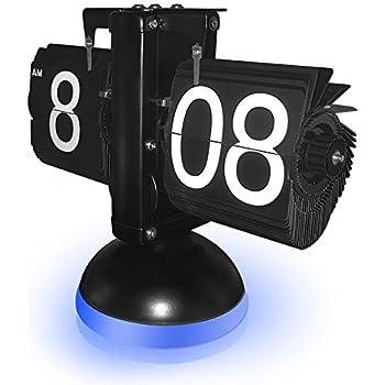 New Generation Flip Clock , KABB Mechanical Retro Flip Clock Internal Gear  Operated Flip Down Clock