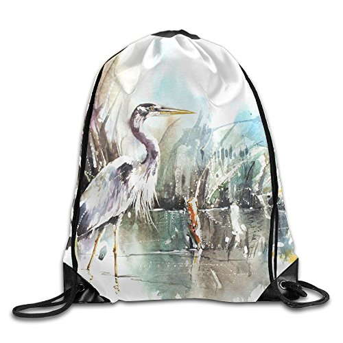 Birds Storks Animals Painting Art Drawstring Gym Sport Bag, Large Lightweight Gym Sackpack Backpack For Men And (Book Character Costume Ideas Images)