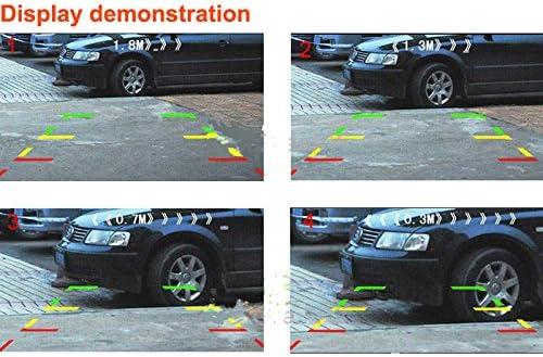 XuBa 2/in 1/Kit Telecamera con sensore di parcheggio Auto retromarcia retrovisore Backup parcheggio Camera
