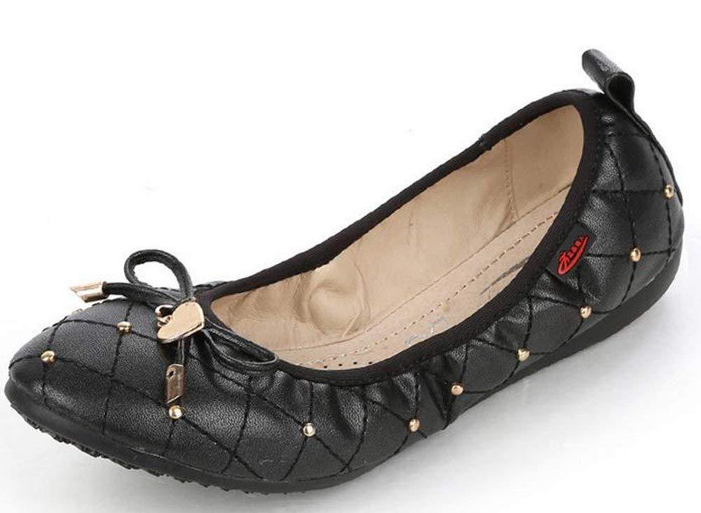 Oudan die Kopf-Schmetterling Frauen Schuhe (Farbe   Schwarz Größe   36)
