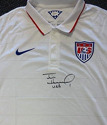 6bade028d5e Team USA Tim Howard Autographed Hand Signed White Nike Jersey