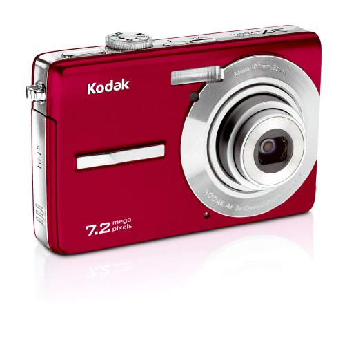 (Kodak Easyshare M763 7.2 MP Digital Camera with 3xOptical Zoom (Red))