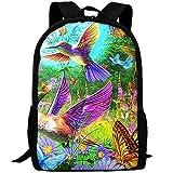 Adult Travel Hiking Laptop Backpack Vivid Art Scenery School Office Multipurpose Zipper Bags