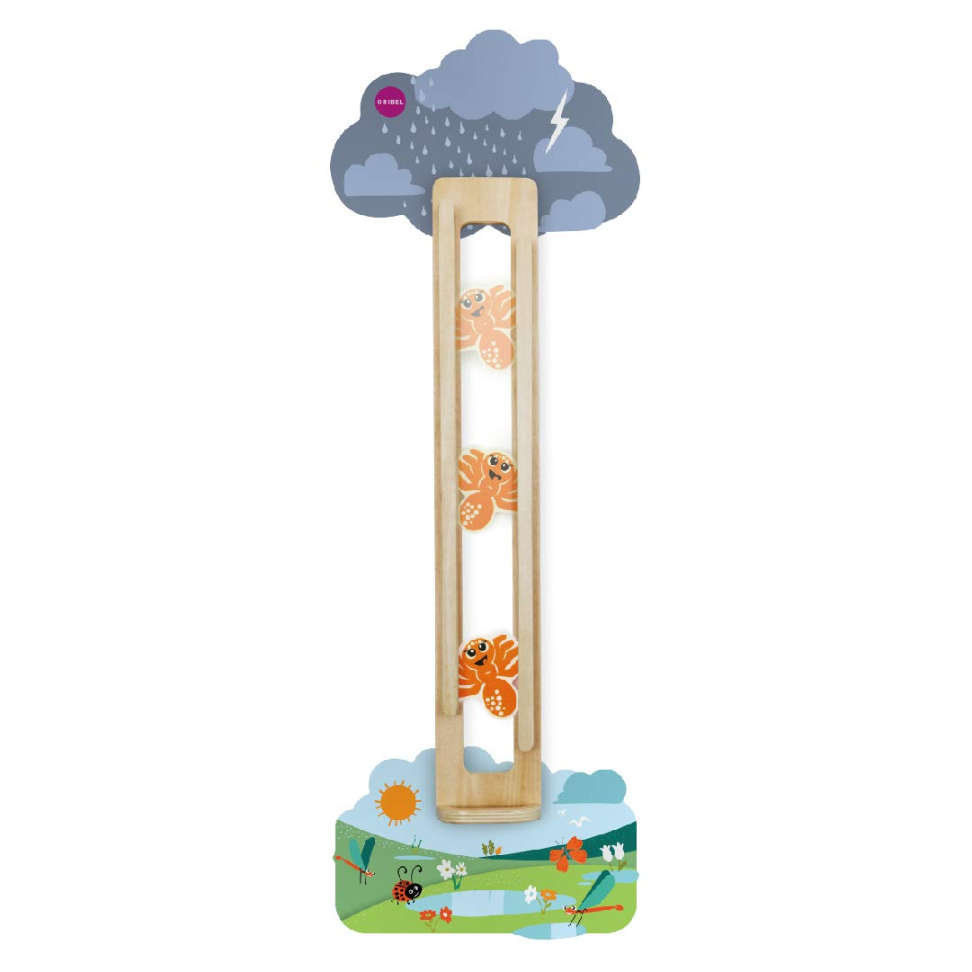 ORIBEL VertiPlay Wall Toys Play Wall Combo Set (Tree Top Adventure, Slidey Spidey, Woodpecker, Xylophone, Door Knocker) by ORIBEL (Image #3)