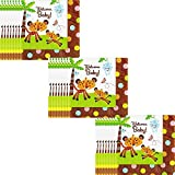 Jungle Animals Baby Shower Party Supply Lunch Napkins - 48 Count