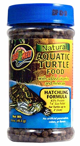 Zoo Med Laboratories SZMZM56 Hatchling Aquatic Turtle Dry Food, - Turtle Hatchling Aquatic