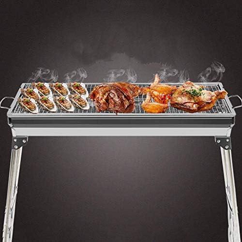 Barbecue Grill Barbecue Grill-Portable en Acier Inoxydable Barbecue au Charbon de Bois en Plein air,Grill de Table de Cuisson au Charbon de Bois @