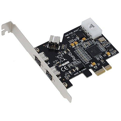 SEDNA - PCI-Express IEEE 1394b FireWire 3 Port Controller Card (2 External + 1 Internal) by Sedna