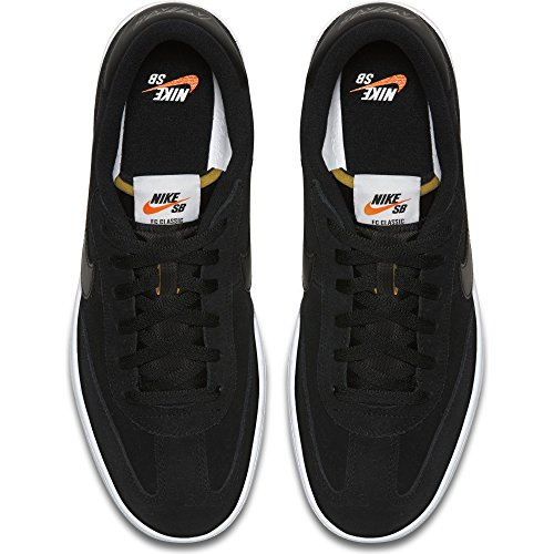 NIKE SB FC Classic Mens Shoes - Black/White-Vivid Orange, US Mens 9.0