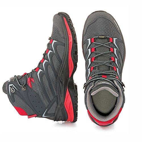 Lowa Sirkos GTX Zapatillas de senderismo gris antracita/rojo