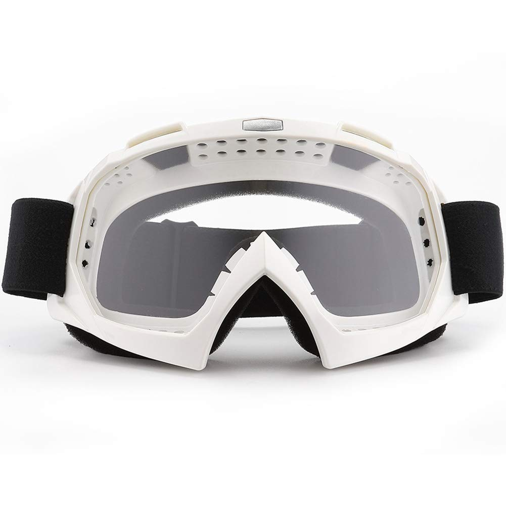 SPOSUNE Motorcycle Goggles, ATV Dirt Bike Off Road Racing MX Riding Goggle Anti-Scratch Dustproof Bendable UV400 Eyewear with Padded Soft Thick Foam,Adjustable Strap for Adults' Cycling Motocross by SPOSUNE