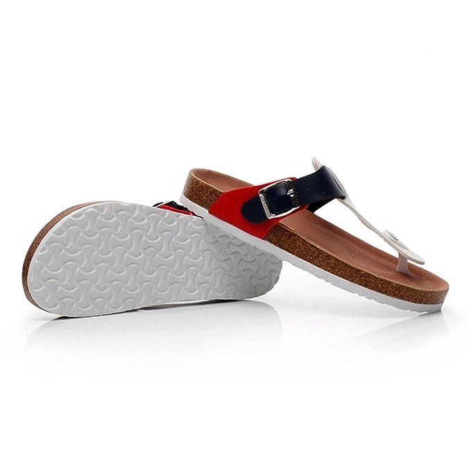LIXIONG Tragbar Männer und Frauen flache Sandalen Stiftung Weibliche Sommer weichen Holz rutschfeste Pantoffeln Paar Strand Schuhe Modeschuhe ( größe : 42 ) lTLsj