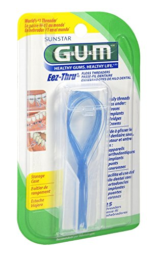Thru Eez Gum Floss - GUM Eez-Thru Floss Threaders [840] 25 Each ( Pack of 4 )