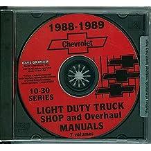 Amazon gm chevy chevrolet truck pickup van books complete unabridged 1988 1989 chevrolet 10 30 pickup truck repair shop service manual cd ton ton 1 ton chevy c k g p trucks blazer fandeluxe Images