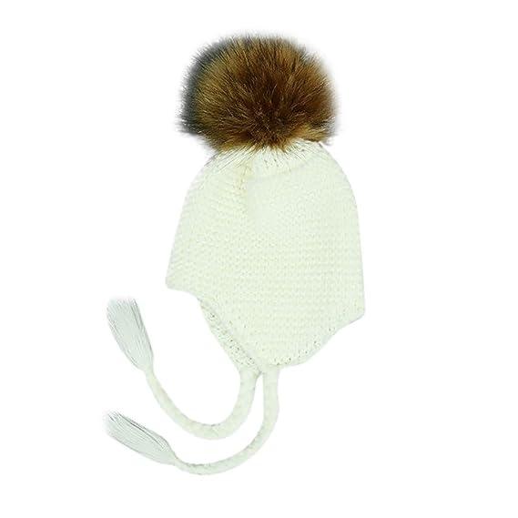 Mitlfuny Niños Niñas Sombreros de Punto Gruesa para Bebé Invierno ...