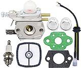 zama carburetor c1u - HOOAI Echo Trimmer Carburetor - C1U-K29 C1U-K47 C1U-K52 SRM2100 SRM2110 SHC1700 SHC2100 with Repower Kit for Power Pruner Trimmer - Zama Carburetor Kit