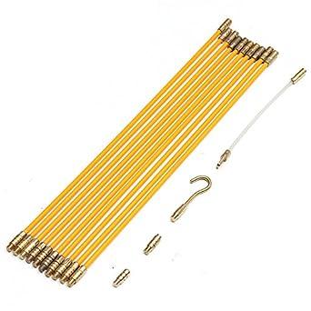 EsportsMJJ 10Ft Fibra De Vidrio Corriente De Cable Coaxial Electricaltape Pull Empujar Kit De Fibra De