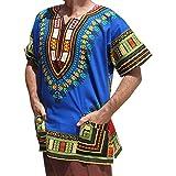 Unisex African Bright Dashiki Cotton Shirt Variety Colors