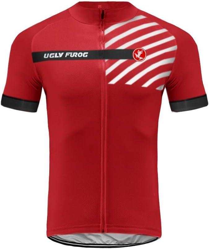 Bib Pantalons de Cyclisme Combinaisons Homme FRTZR01 Uglyfrog 2019 Nouveau /Ét/é Respirant Maillots /à Manches Courte