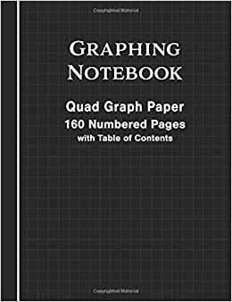 graphing notebook quad graph paper blank 160 numbered pages with