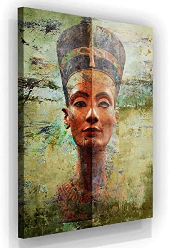 Nefertiti Wall Art Canvas Print Pharaoh Ancient Egypt Art Egyptian Prints Home Decor Pop Art Office Decor Egyptian Gift Queen Nefertiti 48″ x 36″