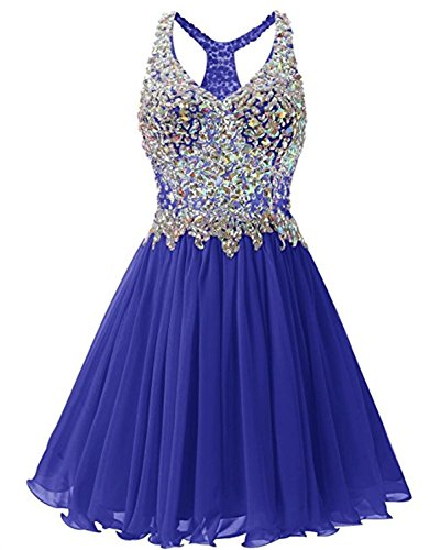 Dresses Short MALL Line V Royalblue A BRL Neck Prom Crystal Women's Hwq0xaZz