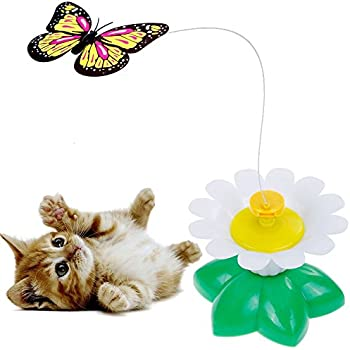 Electric rotate best interactive cat feather for Best motorized cat toys