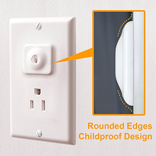 Baby Mate 24 PCS Safety Electrical Outlet Covers - White Child Proof Outlet Plugs Covers - Baby Proofing Safety Plugs - Electric Socket Cover Socket Protectors by Baby Mate (Image #2)