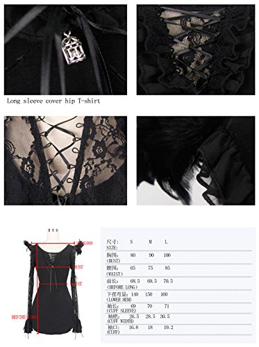 Devil Fashion Damen Lamarmshirt