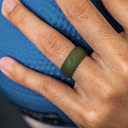 Thunderfit Silicone Wedding Ring For Men Rubber Wedding
