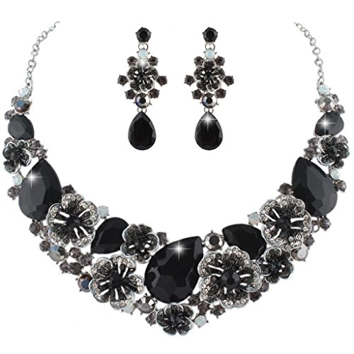 EVER FAITH Camellia Necklace Silver Tone product image