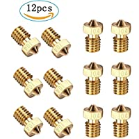 Kee Pang M6 3D Printer Nozzle Brass Extruder Nozzle Print Head for E3D Makerbot Universal 3D Printer