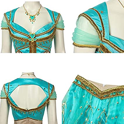 WSJDE Aladdin Film Cosplay Costume Jasmine Adult Lamp Princess ...