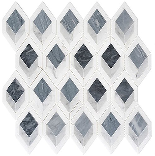 - Ashbury Series Cobolt Avenue Long Hexagon Mosaic Tile AHR-431
