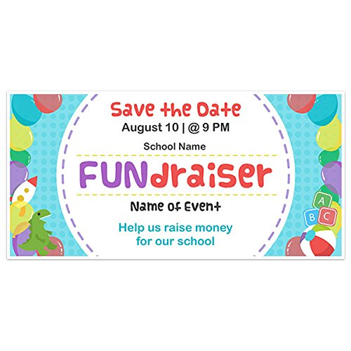 Colorful School Fundraising Banner