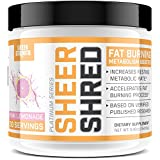 Fat Burner for Women and Men - Sheer SHRED, 9 Proven Ingredients for Burning Fat While Maintaining Muscle Mass, Pink Lemonade Flavor, 30 Servings, 166 grams