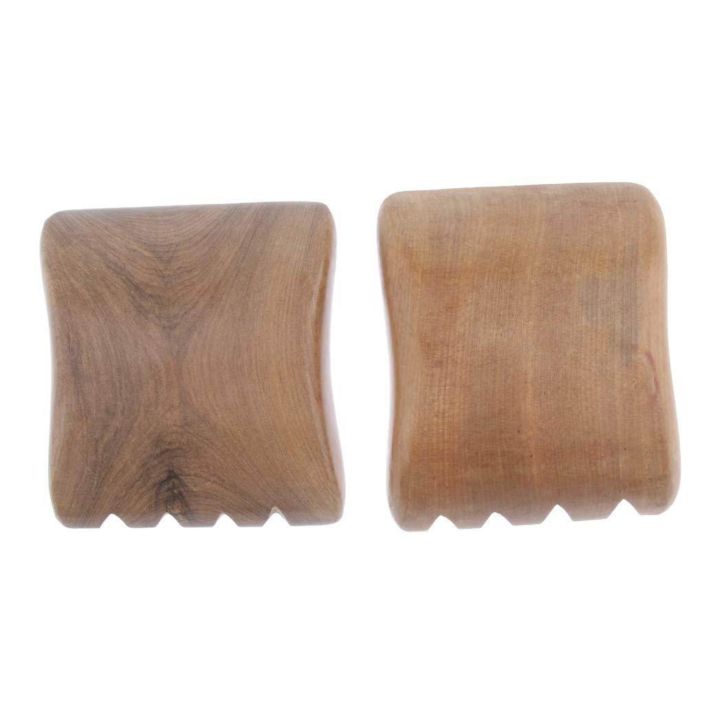 perfeclan 2 St/ück Holz Gua Sha Schaber Holz Massage Guasha Board Fisch