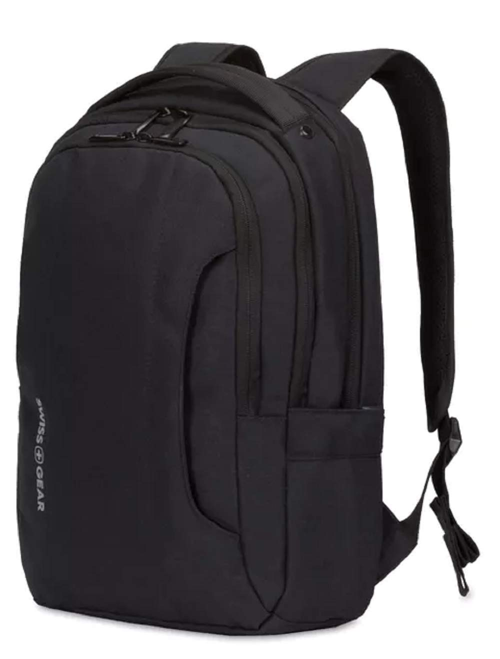 SWISSGEAR 3573 LAPTOP BACKPACK for School, Work, and Travel- BLACK/WHITE LOGO by Swiss Gear