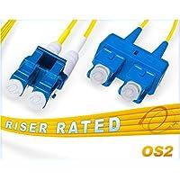 OS2 LC-SC 9/125 Singlemode Duplex Fiber Cable - 10 Meter