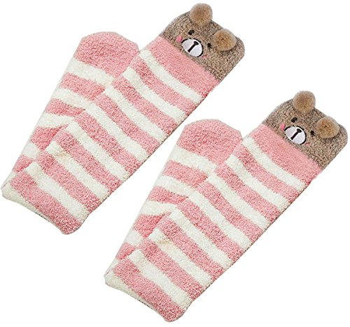 ad8f30ad528aa Knee High Socks Winter Fuzzy Socks Stripe Leg Warmers Thigh High for Girls  - Buy Online in Oman. | Apparel Products in Oman - See Prices, Reviews and  Free ...