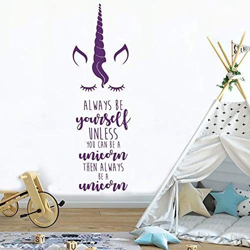Unicorn Wall Sticker Bedroom Decal Kids Room Wall Decoration