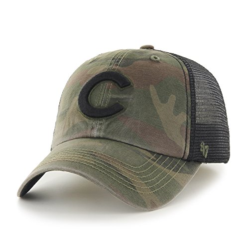 MLB Chicago Cubs Beaufort Closer Stretch Fit Hat, One Size, (Chicago Cubs Classic Cotton)