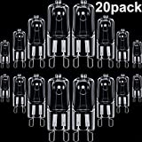 20 Pieces G9 Halogen Light Bulbs Clear Capsule 220-240 V Replacement for Signal Lights, Cooker Lighting, Energy Class C (25 Watt 220-240 V)