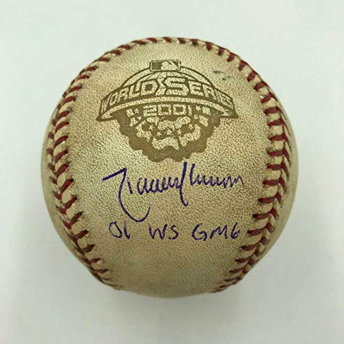 Randy Johnson Signed 2001 World Series Game 6 Game Used Baseball COA - Steiner Sports Certified - MLB Autographed Game Used - Baseball Randy Johnson Steiner